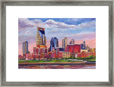 Nashville Skyline Painting Framed Print by Jeff Pittman