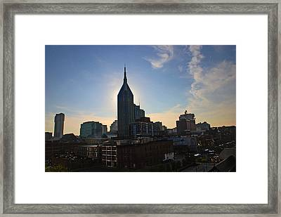 Nashville Skyline Framed Print by Susanne Van Hulst