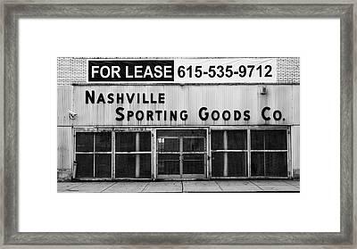 Nashville Sporting Goods Framed Print