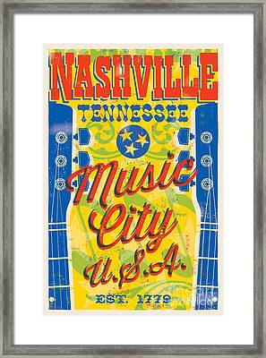 Nashville Tennessee Poster Framed Print by Jim Zahniser