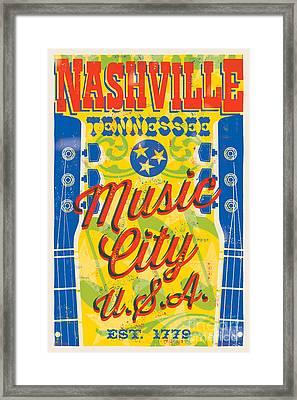 Nashville Tennessee Poster Framed Print