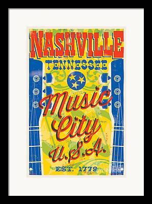 Nashville Tennessee Framed Prints