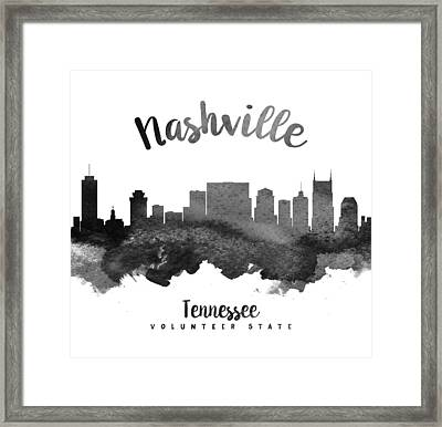 Nashville Tennessee Skyline 18 Framed Print
