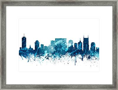 Nashville Tennessee Skyline 19 Framed Print by Aged Pixel