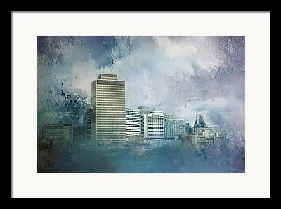 Buildings In Nashville Tennessee Framed Prints