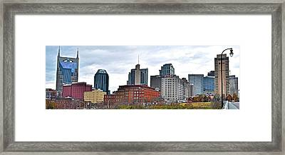 Nashville Wide Angle View Framed Print
