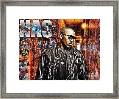 Nasir Jones Framed Print by The DigArtisT