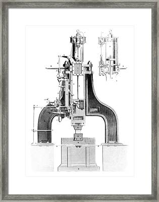 Nasmyth's Steam Hammer, Artwork Framed Print by Library Of Congress