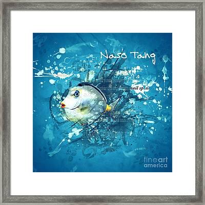 Naso Tang Fish Framed Print
