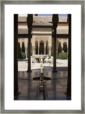 Nasrid Palaces Alhambra Granada Spain Europe Framed Print by Mal Bray