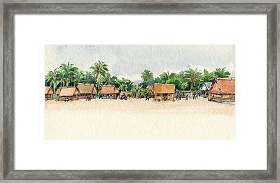 Nassau, Cook Islands, South Pacific Framed Print