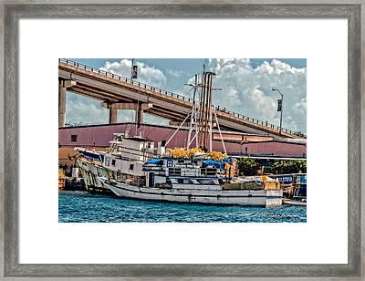 Nassau Fishing Boats Framed Print by Christopher Holmes