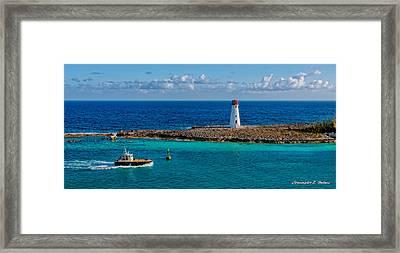 Nassau Harbor Lighthouse Framed Print by Christopher Holmes