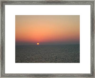 Framed Print featuring the photograph Nassau Sunset by Gary Wonning