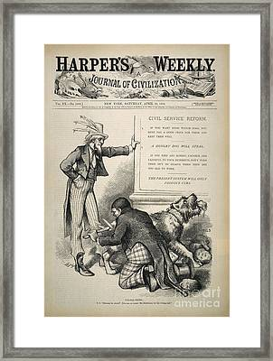 Nast: Civil Service Reform Framed Print by Granger