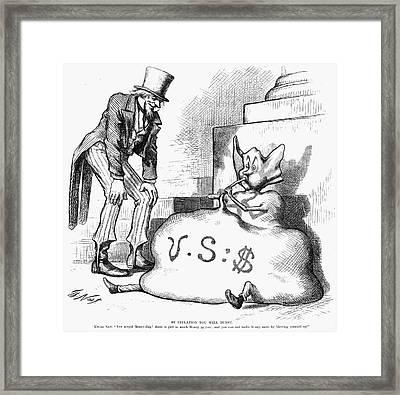 Nast: Inflation, 1873 Framed Print by Granger