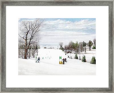 Nastar At Seven Springs Mountain Resort Framed Print by Albert Puskaric