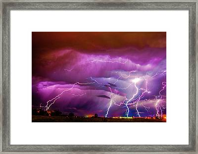 Nasty But Awesome Late Night Lightning 008 Framed Print