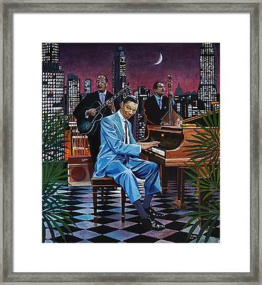 Nat King Cole - After Midnight Framed Print by Jo King