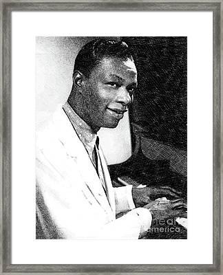 Nat King Cole, Music Legend By Js Framed Print