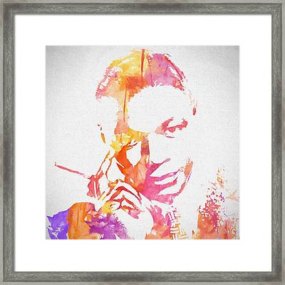 Nat King Cole Watercolor Framed Print
