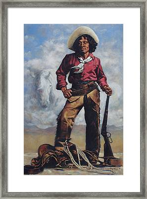 Nat Love - Aka - Deadwood Dick Framed Print by Harvie Brown