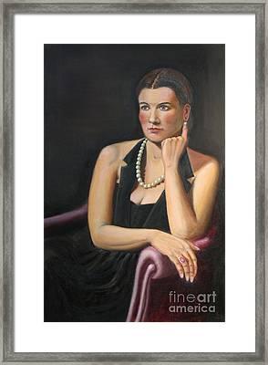 Natalie Framed Print by Bruce Lum