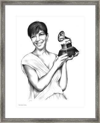 Natalie Cole Framed Print by Greg Joens