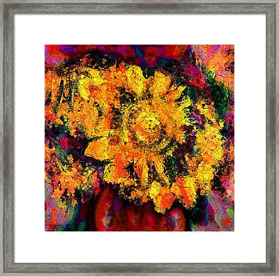 Natalie Holland Sunflowers Framed Print