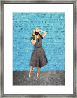 Framed Print featuring the digital art Natalie by Nancy Levan