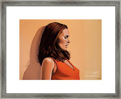 Natalie Portman 2 Framed Print by Paul Meijering