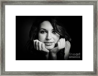 Nataliya In Black And White 10008ml Framed Print