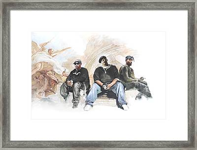 Nate, Biggie, 2pac / Wonder If Heaven Got A Ghetto Framed Print