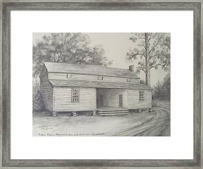 Nathan Bryan's Stagecoach Inn And Bank Near Marshallville Framed Print