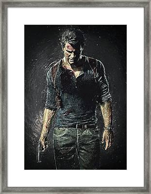 Nathan Drake - Uncharted Framed Print
