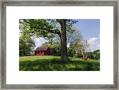 Nathan Hale One-room Schoolhouse Framed Print by Betty Denise