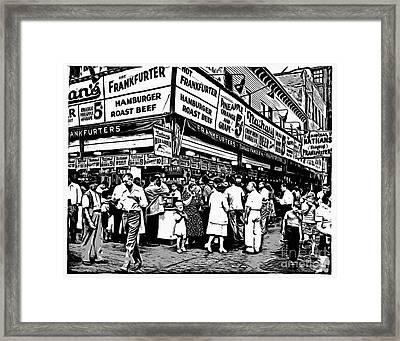 Nathans Famous Frankfurter Coney Island Ny Framed Print