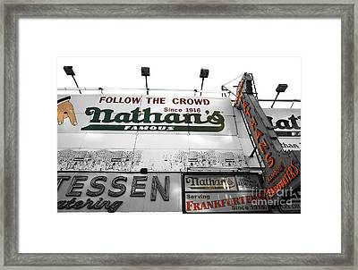 Nathan's Famous Fusion Framed Print