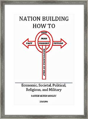 Nation Building How To Book Framed Print