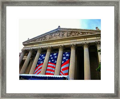 National Archive Building Framed Print by Joyce Kimble Smith