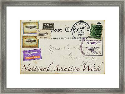 National Aviation Week Postcard Framed Print
