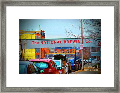 National Brewing Company Framed Print