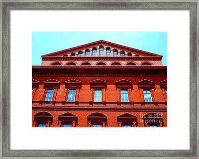 National Building Museum 1 Framed Print by Randall Weidner