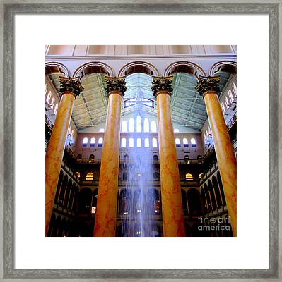 National Building Museum 3 Framed Print by Randall Weidner