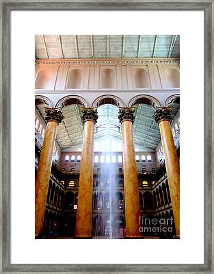National Building Museum 4 Framed Print by Randall Weidner