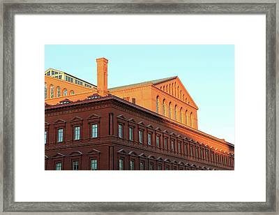 The National Building Museum In Washington Framed Print by Cora Wandel