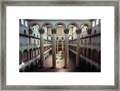National Building Museum Interior Framed Print by Sisse Brimberg