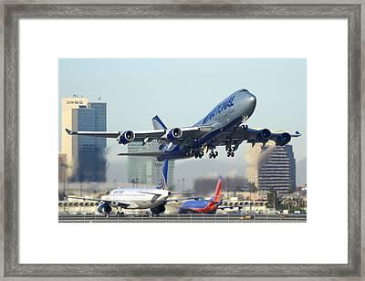 National Cargo Boeing 747-428 Bcf Phoenix Sky Harbor Arizona December 23 2011 Framed Print by Brian Lockett