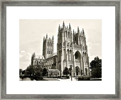 National Cathedral In Washington Dc Framed Print
