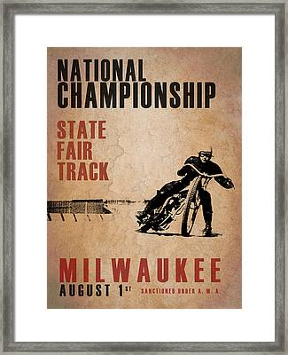 National Championship Milwaukee Framed Print by Mark Rogan